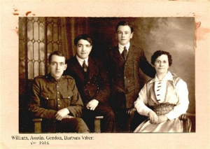 Barbara Vibert nee Cass and 3 sons in 1916
